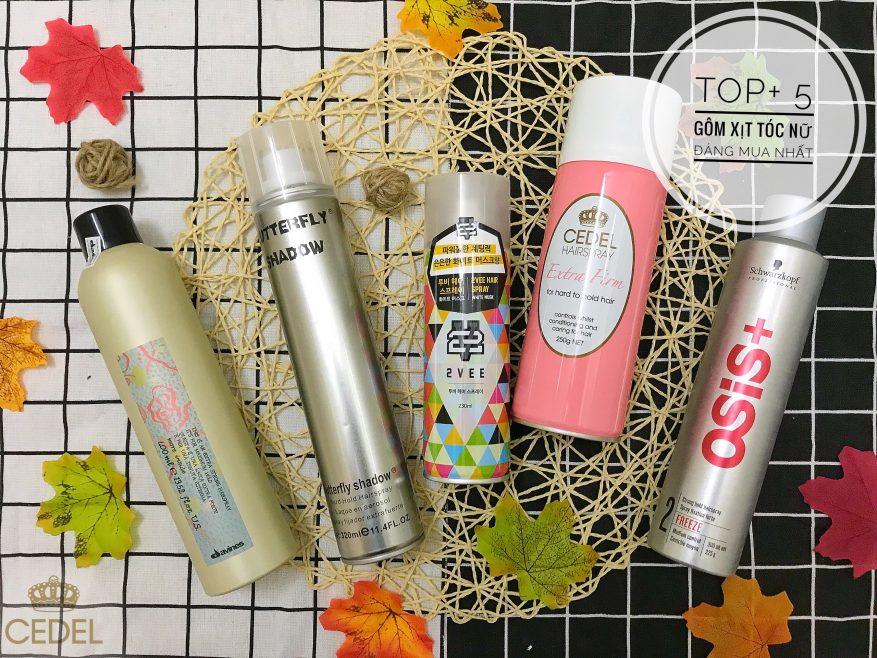 Tổng Hợp 5 loại gôm xịt tóc nữ dành cho mọi cô nàng